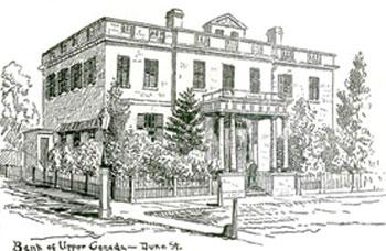 Illustration of Bank of Upper Canada, Duke Street