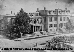 Photo of Bank of Upper Canada and De La Salle, 1872