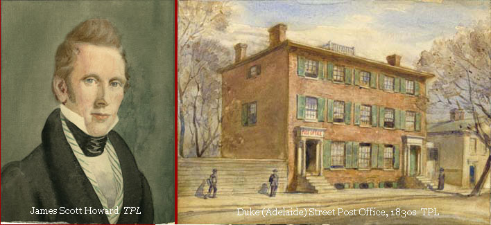 Illustration of James Scott Howard and the post office.