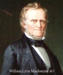 Painted portrait of William Lyon Mackenzie