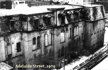 Adelaide Street, 1979. Post-fire.